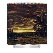 Evening On The Prairie Shower Curtain