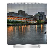Evening On The River Shower Curtain