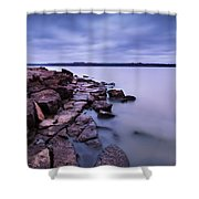 Evening On Tuttle Creek Lake In Kansas Shower Curtain