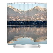Evening Over Lake Bled Shower Curtain