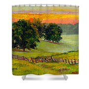 Evening Pastures Shower Curtain