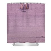Evening Pink Shower Curtain