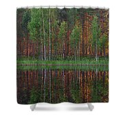 Evening Pond Shower Curtain