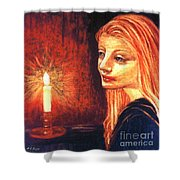Evening Prayer Shower Curtain by Jane Small