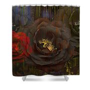 Evening Roses Shower Curtain