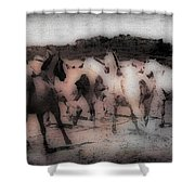 Evening Roundup - Featured In Comfortable Art Group Shower Curtain