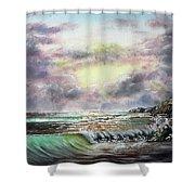Evening Seashore Shower Curtain
