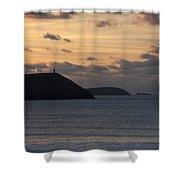 Evening Skies At Polzeath Shower Curtain