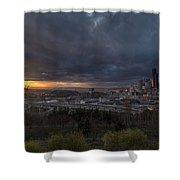 Evening Skies Light Shower Curtain