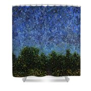 Evening Star - Square Shower Curtain