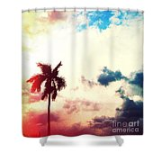 Evening Storm Photography Light Leaks2 Shower Curtain