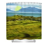 Evening Stroll By The Seashore Shower Curtain