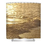 Evening Sun Hive Beach Three Shower Curtain