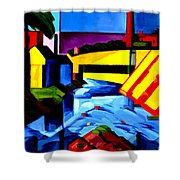 Evening Tones Shower Curtain