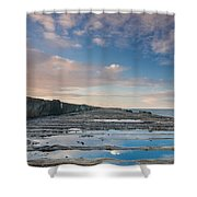 Evening View Down The South Jetty Shower Curtain