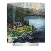 Evening Visitors Shower Curtain