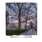 Evening Walk At Themuseum Of Fine Arts Shower Curtain