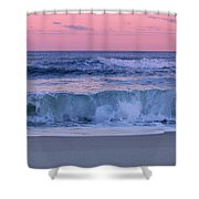 Evening Waves - Jersey Shore Shower Curtain