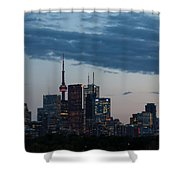 Eventide - Slow Dusk In Toronto Shower Curtain