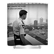 Ever Watchful Shower Curtain by John Malone