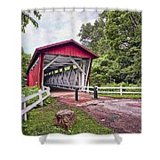 Everett  Bridge Shower Curtain