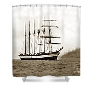 Everett G. Griggs Sailing Ship Washington State 1905 Shower Curtain