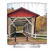 Everett Road Bridge Shower Curtain