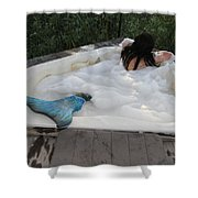 Everglades City Florida Mermaid 071 Shower Curtain