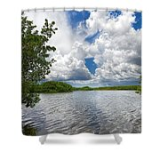 Everglades Lake - 0278 Shower Curtain