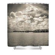 Everglades Lake 6919 Bw Shower Curtain