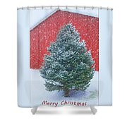 Evergreen In Winter 2 Shower Curtain