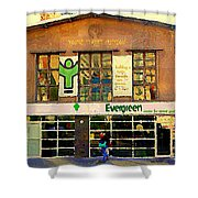 Evergreen Yonge St  Scenes Building A Better Toronto One Person At A Time Community Center Cspandau Shower Curtain