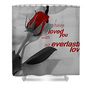 Everlasting Love Shower Curtain