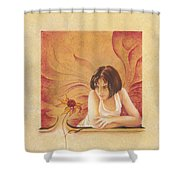 Everyday Angel With Flower Shower Curtain