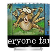 Everyone Farts Poster Shower Curtain