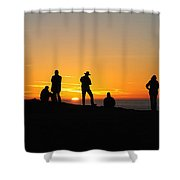 Everyone Loves A Sunset Panorama Shower Curtain