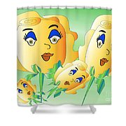 Everyone Loves Roses 2 Shower Curtain