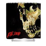 Evil Dead Skull Shower Curtain