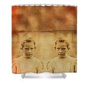 Evil Twins Shower Curtain