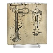 Evinrude Outboard Marine Engine Patent  1910 Shower Curtain