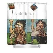 Evolution The Poster Shower Curtain
