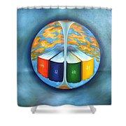 Evolution Thru 4 Vaids Shower Curtain