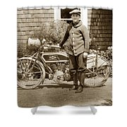 Excalibur Motorcycle California Circa 1915 Shower Curtain