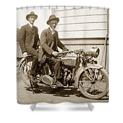 Excalibur Motorcycle Circa 1920 Shower Curtain