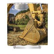 Excavator At Big Rock Quarry - Emerald Park - Arkansas Shower Curtain