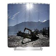 Excavator Clean A Harbor Shower Curtain