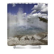 Excelsior Geyser Crater In Yellowstone National Park Shower Curtain