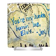 Excerpts From The Wall Memphis Shower Curtain