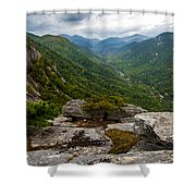 Exclamation Point North Carolina  Shower Curtain