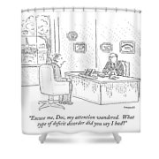Excuse Me, Doc, My Attention Wandered.  What Type Shower Curtain